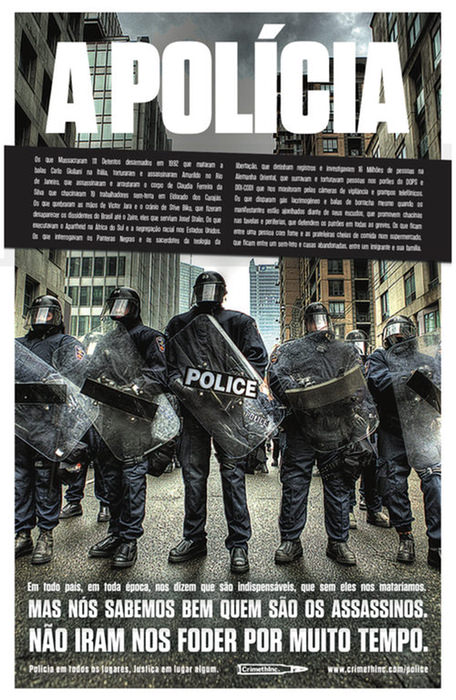 """Poster """"A polícia"""""""