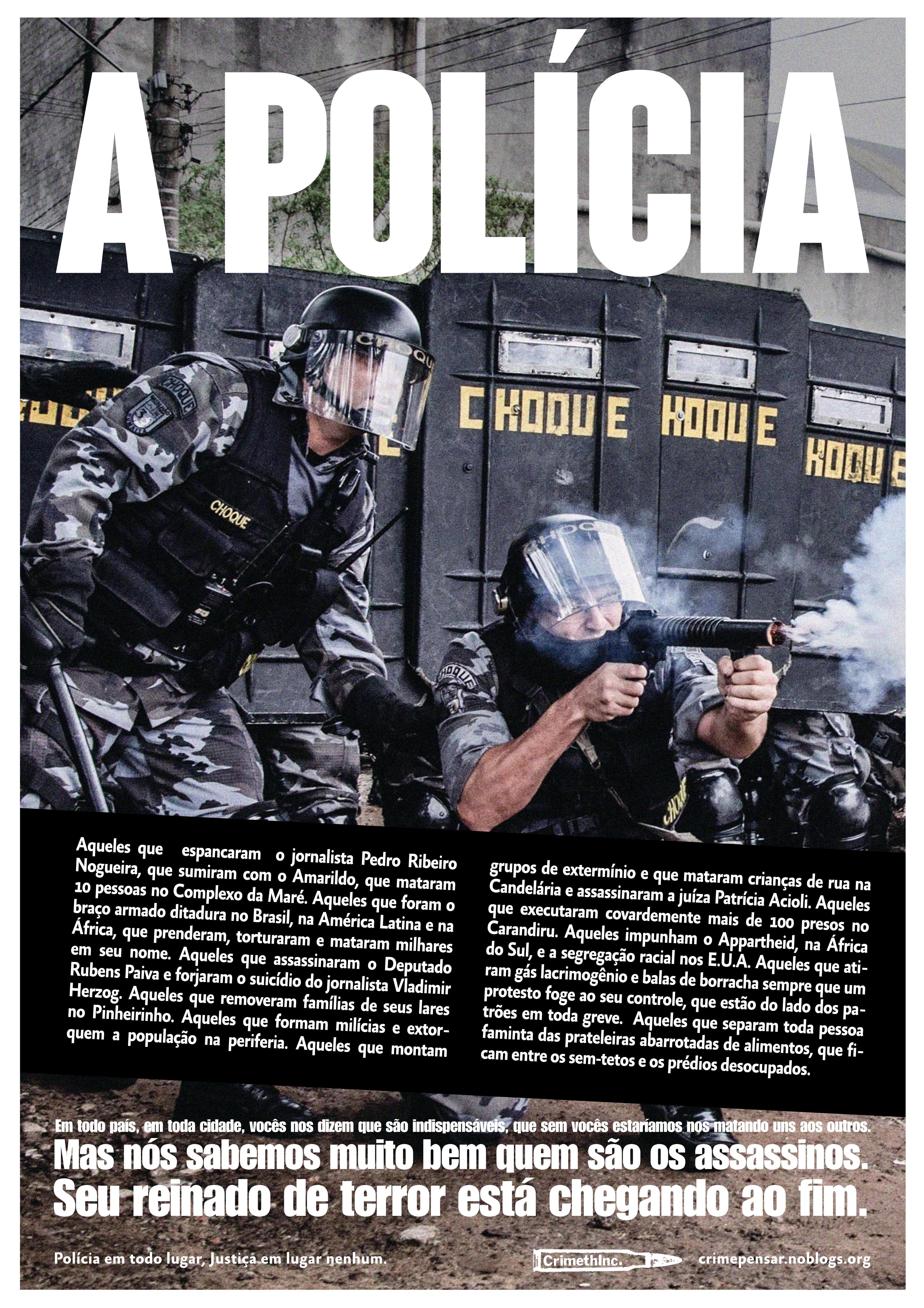 """Poster """"A polícia"""" 2"""